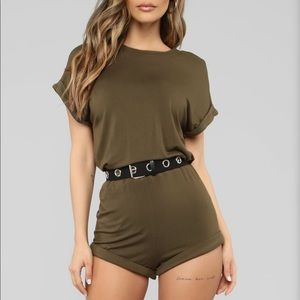 Stage Ready Belted Romper